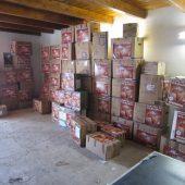 Material empaquetado para envío